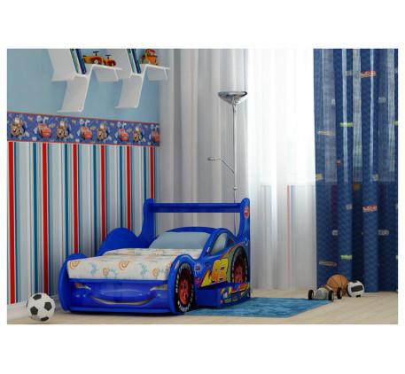 Кровать-машина для мальчика Молния Маквин Плюс с выдвижным ящиком, спальное место 170х80 см