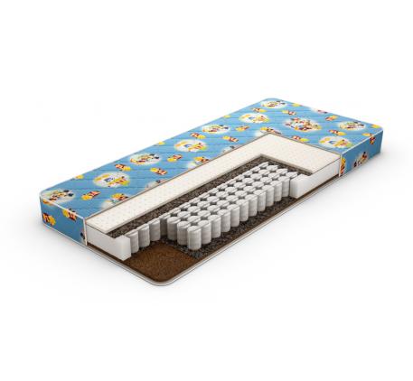 Матрас Kinder Latex TFK двусторонний. Наполнение: независимый пружинный блок, натуральный латекс, ла..