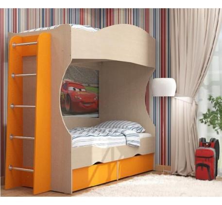 Двухъярусная кровать Дельта 20 +лестница 23-1, спальные места кровати 1900*800 мм.