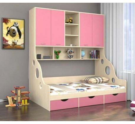 Кровать с антресолью Дельта 21.01, спальное место детской кровати 1900*1200 мм.