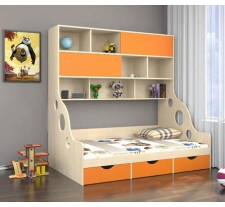 Детская кровать с антресолью Дельта 21.02, спальное место кровати 1900*1200 мм.