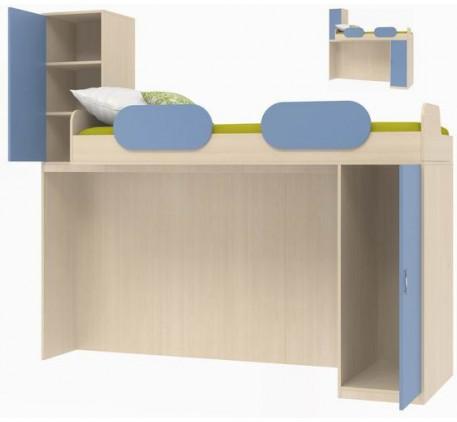 Кровать-чердак верхняя Дельта 18.03, спальное место кровати 2000*800 мм.