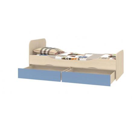 Кровать подростковая с ящиками Дельта 19, спальное место кровати 1900*800 мм.