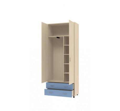 Двухдверный шкаф для одежды Дельта 4 с ящиками
