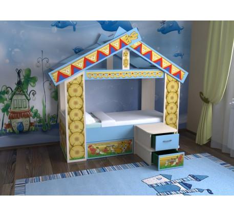 Кровать-домик для мальчика Славмебель, спальное место кровати 160х70 см