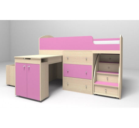 Детская кровать-чердак Малыш, спальное место 160х70 см