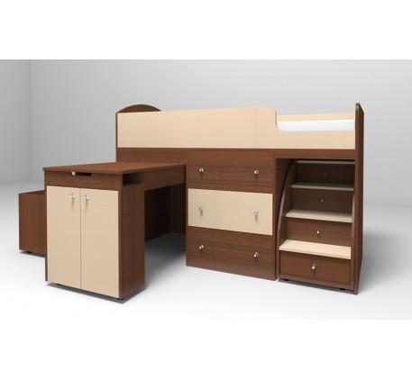 Кровать-чердак Малыш, спальное место детской кровати 160х70 см