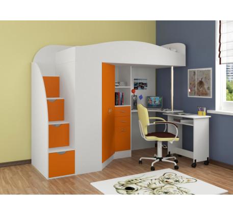 Кровать-чердак для детей Теремок-1 Гранд, спальное место кровати 190х80 см