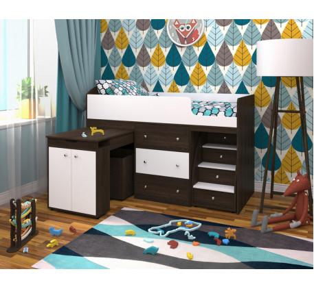 Детская кровать-чердак Малыш, спальное место кровати 160х70 см
