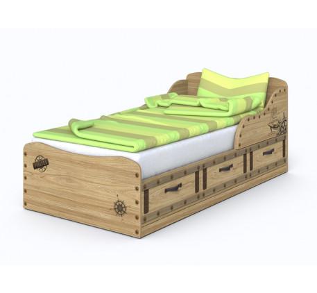 Кровать Корсар-3, спальное место детской кровати 190х90 см