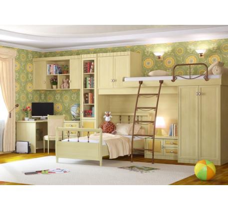 Детская мебель Итальянский мотив. Комната №5: стол 51.502.02, шкаф навесной 51.603, шкаф 51.201.07, ..