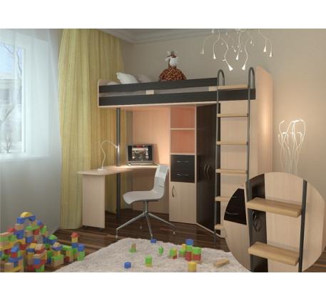 Кровать чердак М 85, спальное место кровати 195х80 см