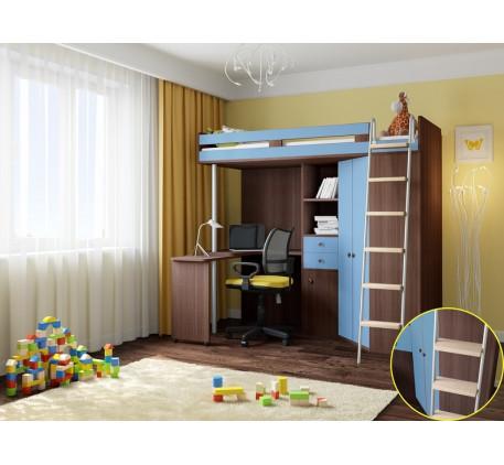 Детская кровать чердак от 5 лет М 85, спальное место кровати 195х80 см