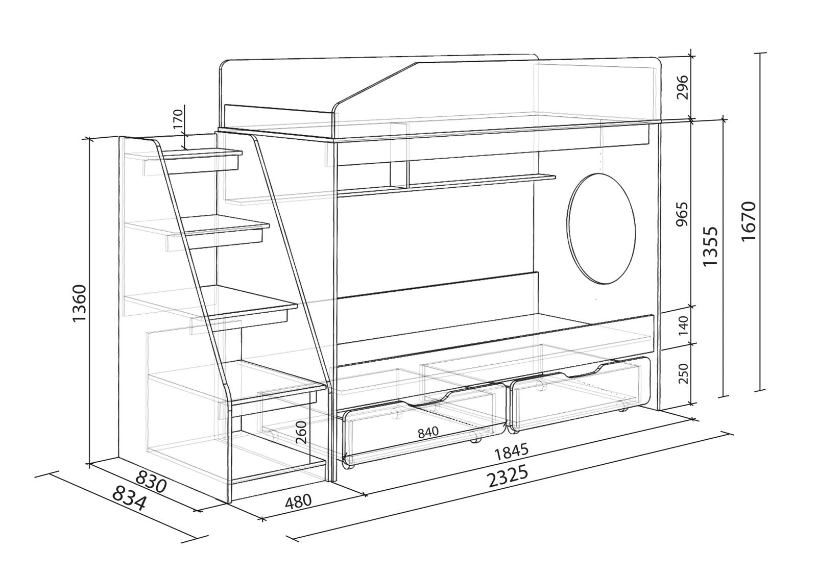 Инструкция по сборки двухъярусной кровати