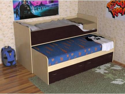 Детская выдвижная двухъярусная кровать Дуэт-2 («Славмебель»)