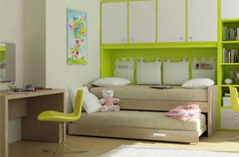 Выдвижные двухъярусные кровати для детей
