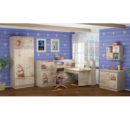Детская мебель Квест. Комната №3 с низкой кроватью-чердаком 180х80 см