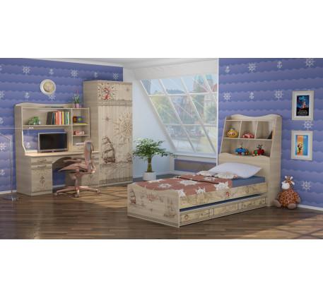 Детская мебель Квест. Комната №4 с кроватью 190х90 см