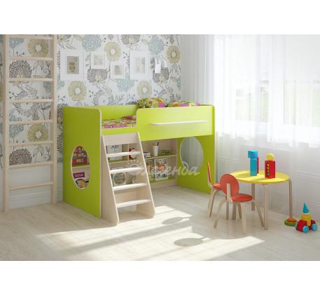 Детская кровать-чердак Легенда-22.1 игровая, спальное место 160х80 см