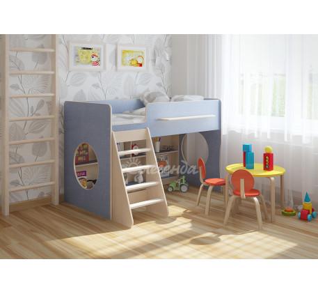 Детская кровать Легенда-22.1 с игровой зоной для мальчика, спальное место 160х80 см