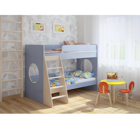 Двухъярусная кровать для мальчика Легенда-25.1, спальные места 180х80 см