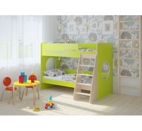 Двухъярусная кровать с бортиками Легенда-25.1, спальные места 180х80 см