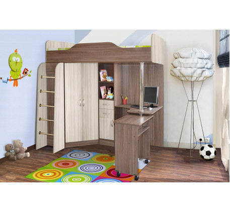 Кровать-чердак Бриз-1, спальное место 190х80 см