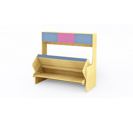 Кровать-трансформер со столом и шкафом, спальное место 190х80 см