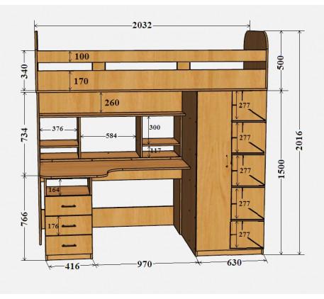 Кровать-чердак Аракс