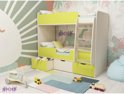 Двухъярусная кровать Двойняшка Малыш
