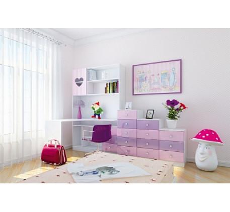 Детская мебель Ральф-4 «Сердца». Комната №2.