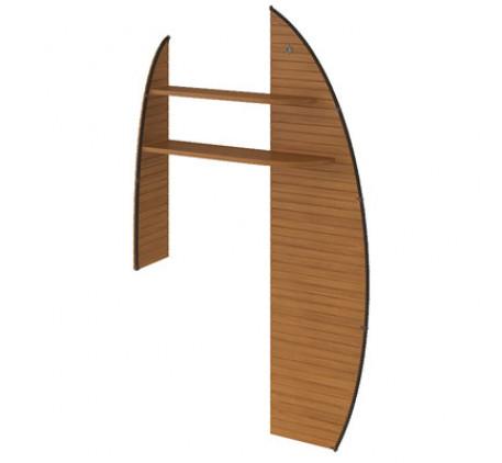 Полка парус для углового стола правая Флинт F 0717 R