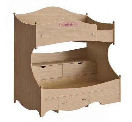 Двухъярусная кровать Николь правая Николь N 1932 R, спальные места 190х90 см