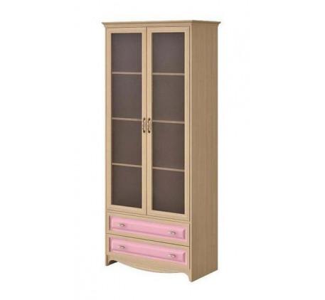 Шкаф 2 дверный со стеклом с 2 ящиками Николь N 2212 G