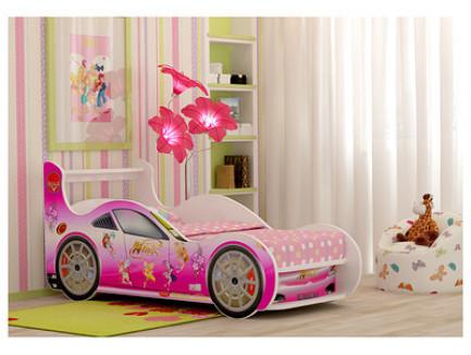 Кровать Винкс, кровать-машина для девочки Принцесса (детская машинка «Red River»)