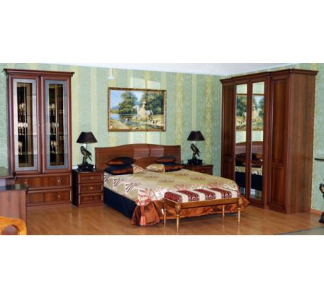 Спальня Джулия-3. Комплектация спальни: Шкаф посудный 2771, Кровать 2563, Тумба 2553 (2 шт.), Шкаф 2..