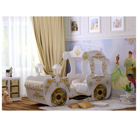 Кровать-карета для девочки Принцесса