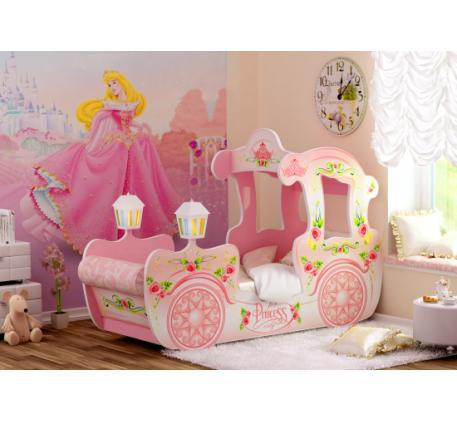 Детская кровать-карета для девочки Принцесса