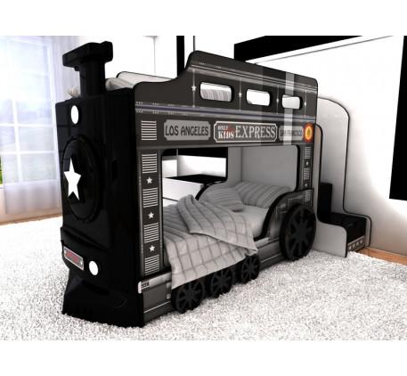 Двухъярусная кровать Паровоз детская