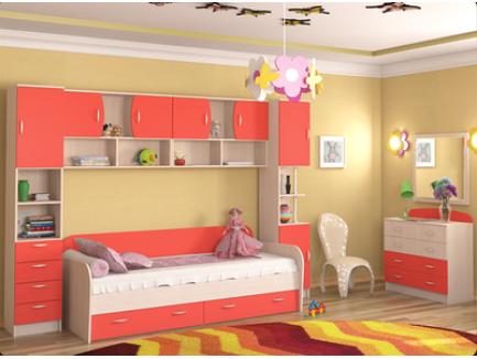 Набор, комплект детской мебели Ника, кровать-чердак Ника (официальный каталог фабрики «Ник» г. Нижний Новгород)