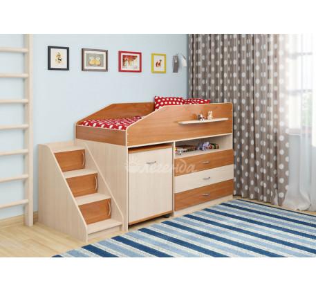 Детская кровать-чердак низкая Легенда-12.2, спальное место 160х80 см