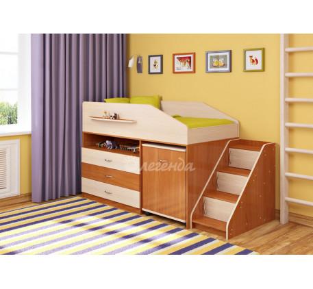 Кровать-чердак невысокая Легенда-12.2, спальное место 160х80 см