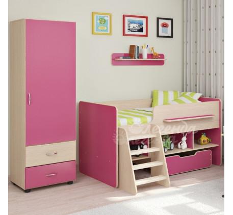 Детская мебель Легенда. Комната №6: детская кровать Легенда-6, пенал Л-01, полка Л-01