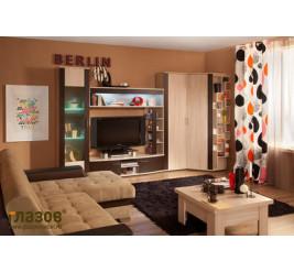 Мебель Берлин, гостиная стенка Berlin (официальный каталог фабрики «Глазов-Мебель»)