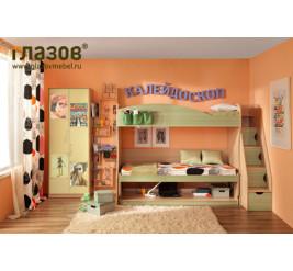 Мебель Калейдоскоп, детская кровать-трансформер Калейдоскоп (фабрика «Глазов-Мебель»)
