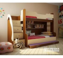 Трехъярусная кровать Фанки Кидз 21 для троих детей