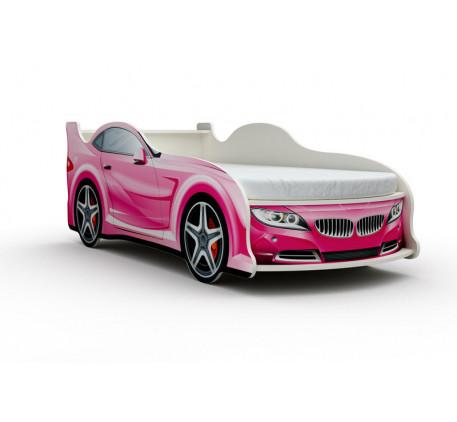 Кровать-машина БМВ (BMW) с матрасом, спальное место кровати 1800*800 мм.