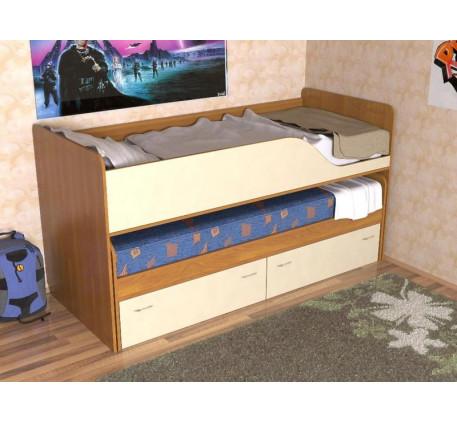 Детская кровать Дуэт-2 для двоих детей с выдвижным спальным местом с ящиками