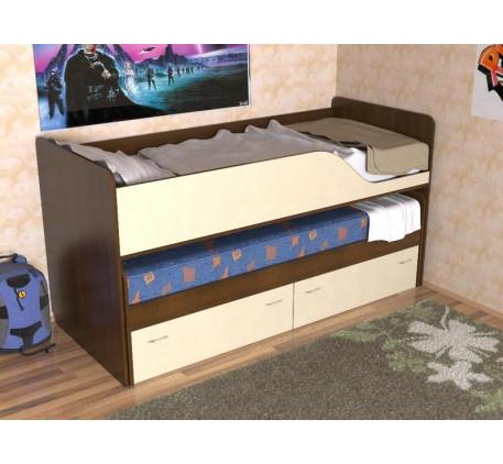 Кровать Дуэт-2 выкатная для двоих детей с выдвижными ящиками
