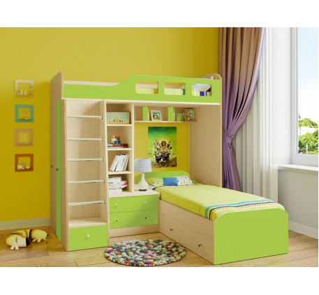 Двухъярусная кровать Астра-4, спальные места 195х80 см
